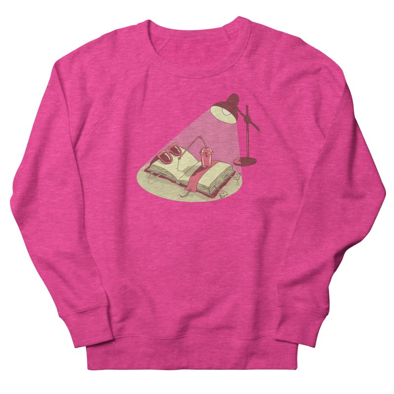 BOOK ON THE BEACH Women's French Terry Sweatshirt by gotoup's Artist Shop