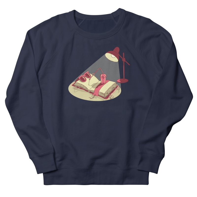 BOOK ON THE BEACH Men's French Terry Sweatshirt by gotoup's Artist Shop