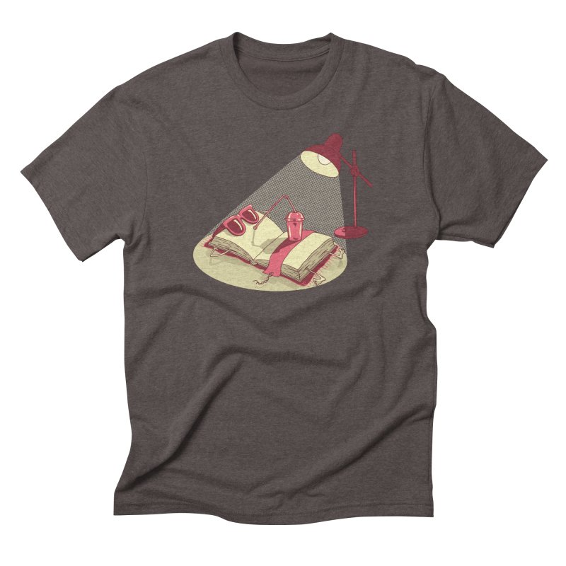 BOOK ON THE BEACH Men's Triblend T-Shirt by gotoup's Artist Shop