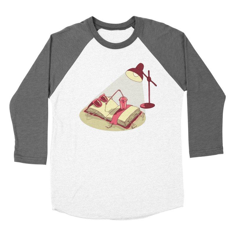 BOOK ON THE BEACH Men's Baseball Triblend Longsleeve T-Shirt by gotoup's Artist Shop
