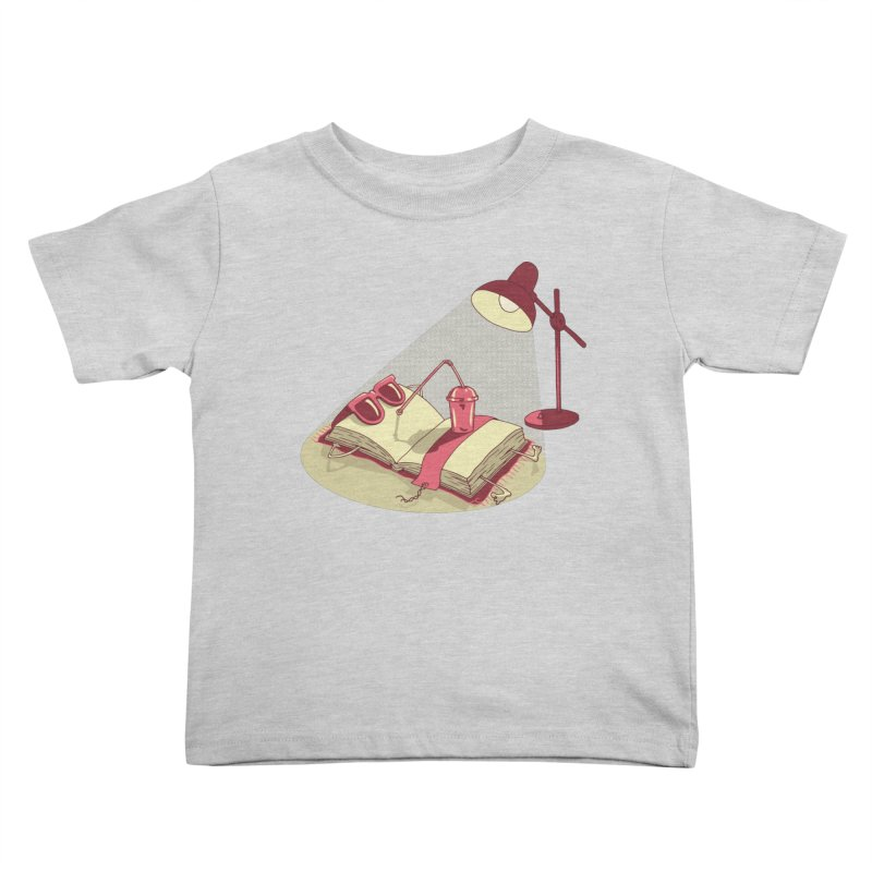 BOOK ON THE BEACH Kids Toddler T-Shirt by gotoup's Artist Shop