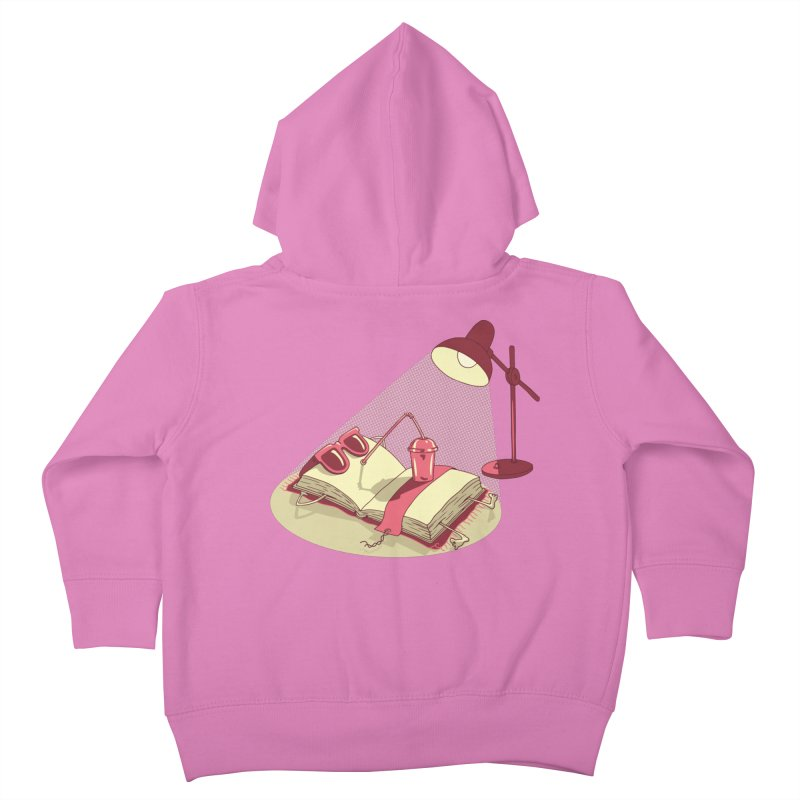 BOOK ON THE BEACH Kids Toddler Zip-Up Hoody by gotoup's Artist Shop