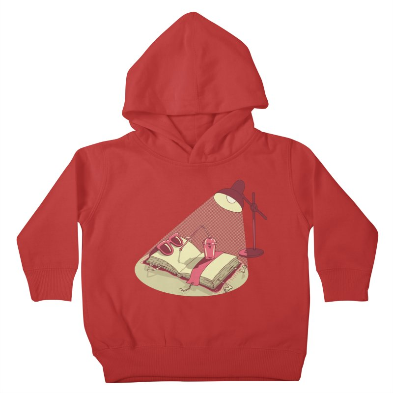 BOOK ON THE BEACH Kids Toddler Pullover Hoody by gotoup's Artist Shop