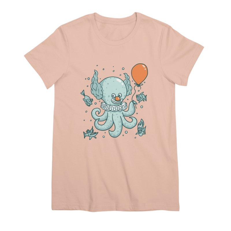 octopus clown Women's Premium T-Shirt by gotoup's Artist Shop