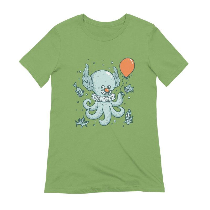 octopus clown Women's Extra Soft T-Shirt by gotoup's Artist Shop