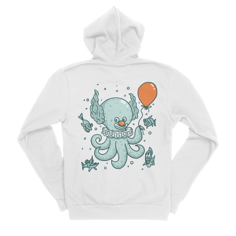 octopus clown Women's Sponge Fleece Zip-Up Hoody by gotoup's Artist Shop