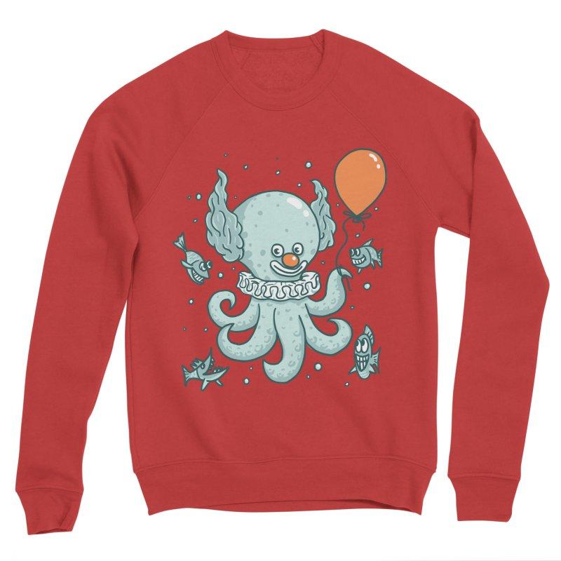 octopus clown Men's Sponge Fleece Sweatshirt by gotoup's Artist Shop