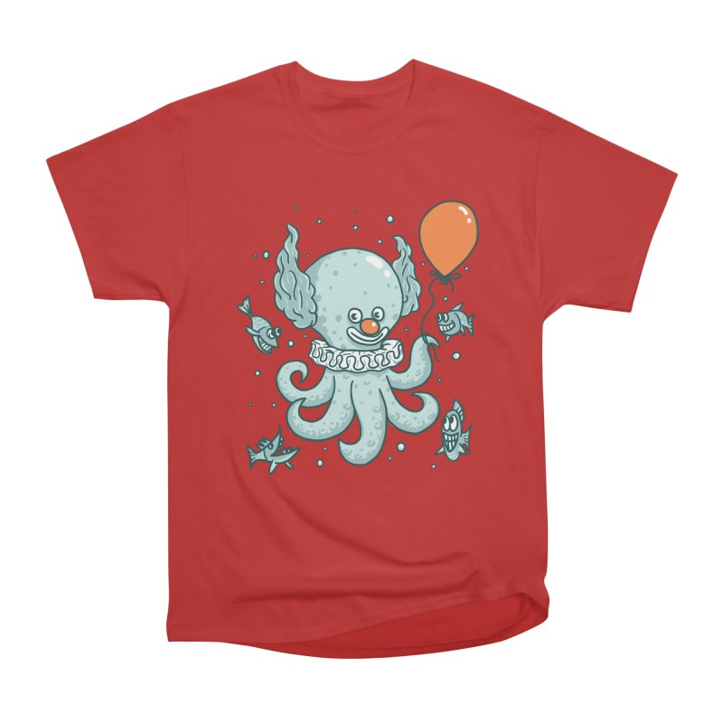 octopus clown Women's Heavyweight Unisex T-Shirt by gotoup's Artist Shop
