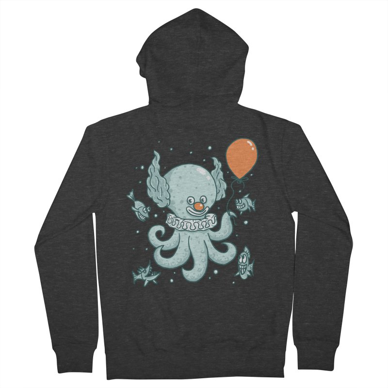 octopus clown Women's French Terry Zip-Up Hoody by gotoup's Artist Shop