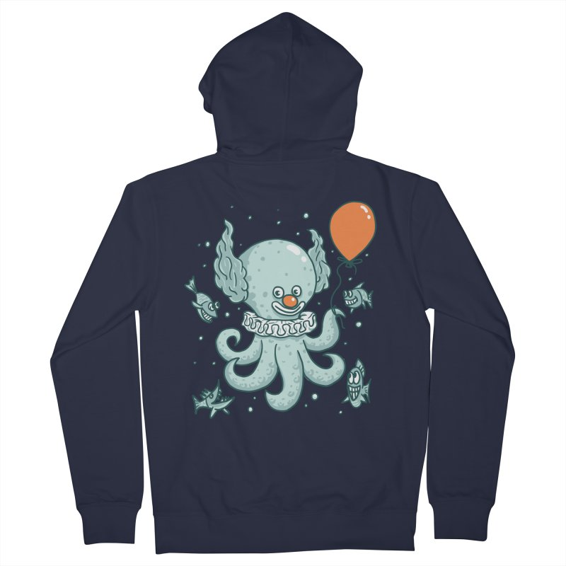 octopus clown Men's French Terry Zip-Up Hoody by gotoup's Artist Shop