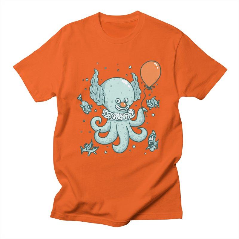 octopus clown Women's Regular Unisex T-Shirt by gotoup's Artist Shop