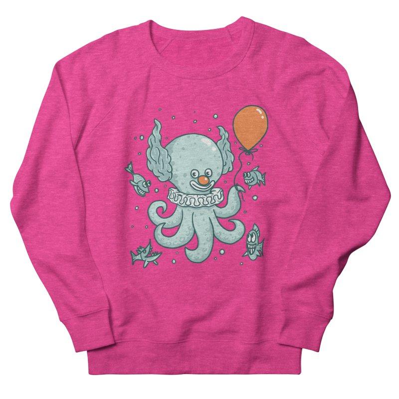 octopus clown Women's French Terry Sweatshirt by gotoup's Artist Shop