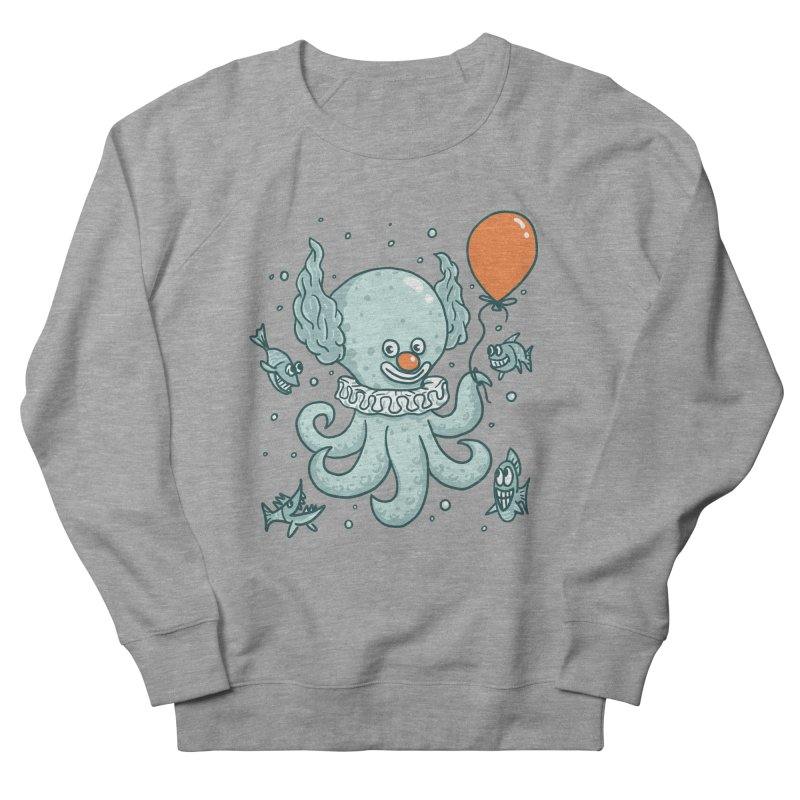 octopus clown Men's French Terry Sweatshirt by gotoup's Artist Shop