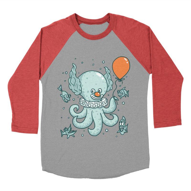 octopus clown Men's Baseball Triblend Longsleeve T-Shirt by gotoup's Artist Shop