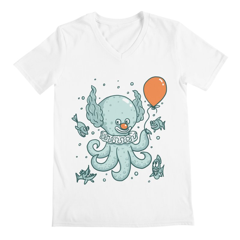 octopus clown Men's Regular V-Neck by gotoup's Artist Shop
