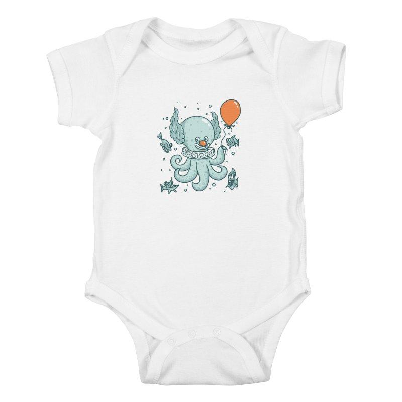 octopus clown Kids Baby Bodysuit by gotoup's Artist Shop