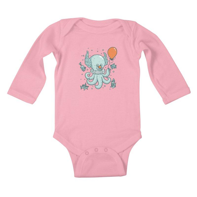 octopus clown Kids Baby Longsleeve Bodysuit by gotoup's Artist Shop