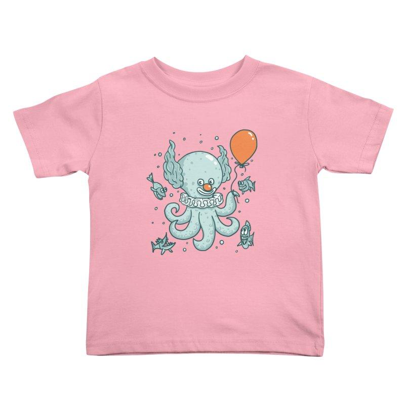 octopus clown Kids Toddler T-Shirt by gotoup's Artist Shop