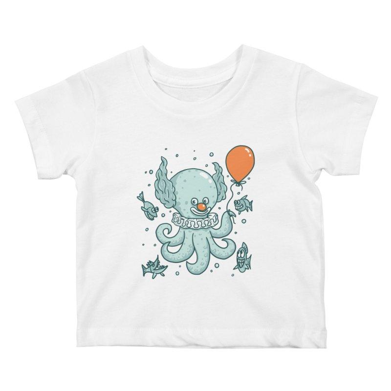 octopus clown Kids Baby T-Shirt by gotoup's Artist Shop