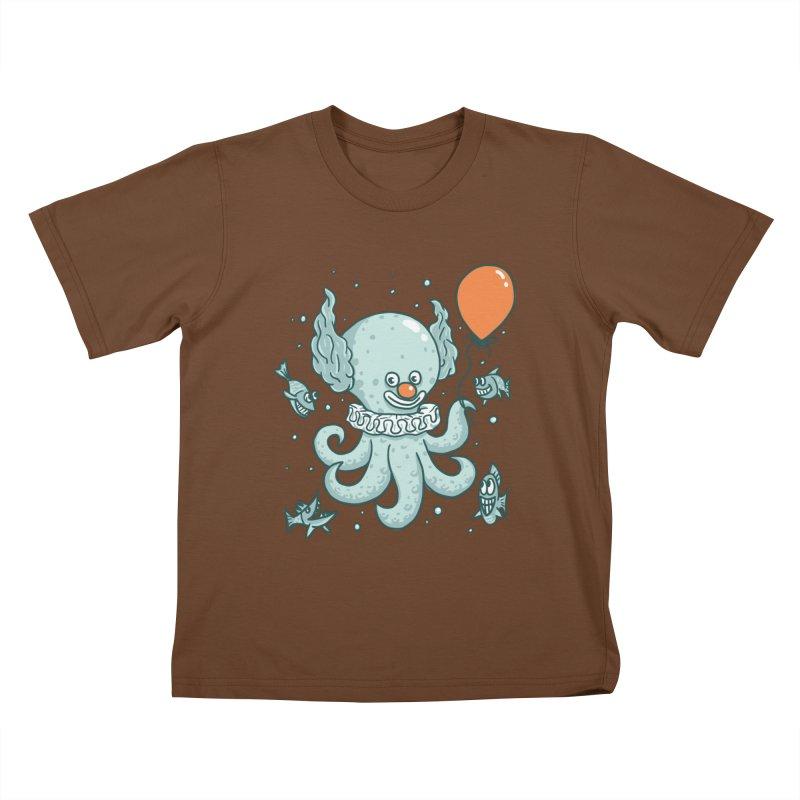 octopus clown Kids T-Shirt by gotoup's Artist Shop