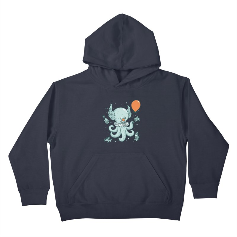 octopus clown Kids Pullover Hoody by gotoup's Artist Shop