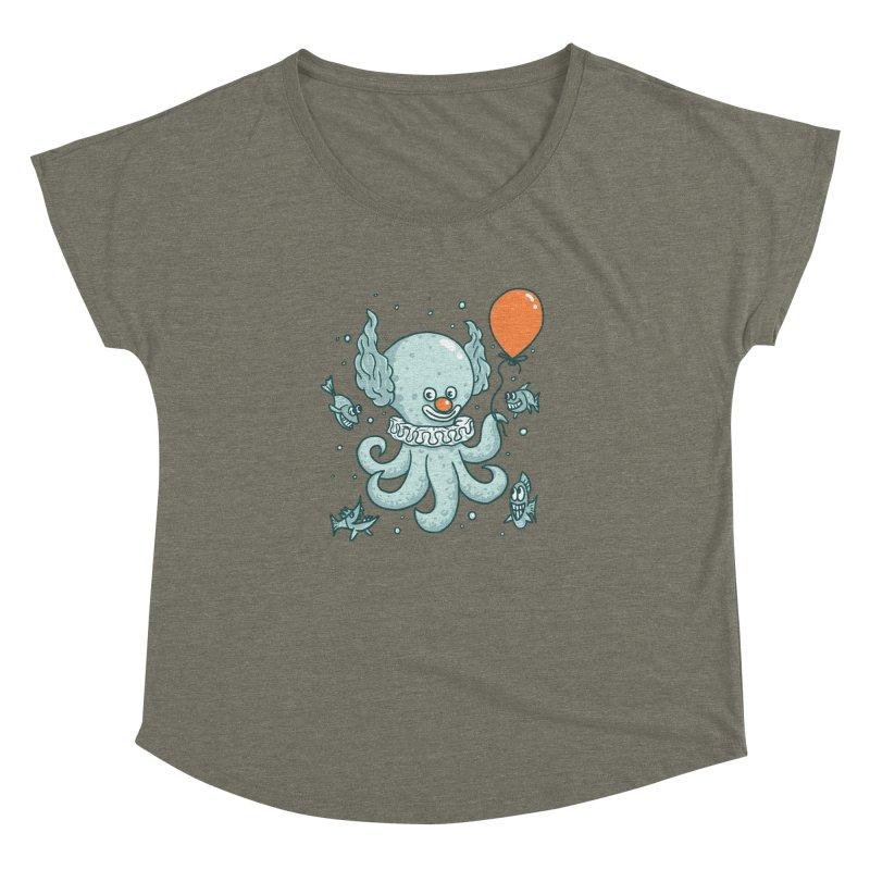 octopus clown Women's Dolman Scoop Neck by gotoup's Artist Shop