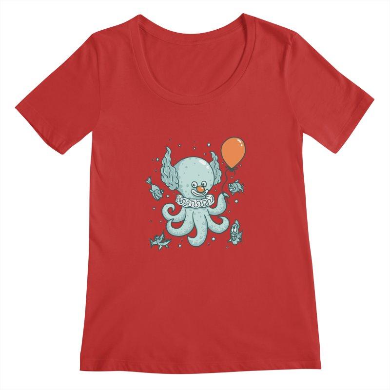 octopus clown Women's Regular Scoop Neck by gotoup's Artist Shop