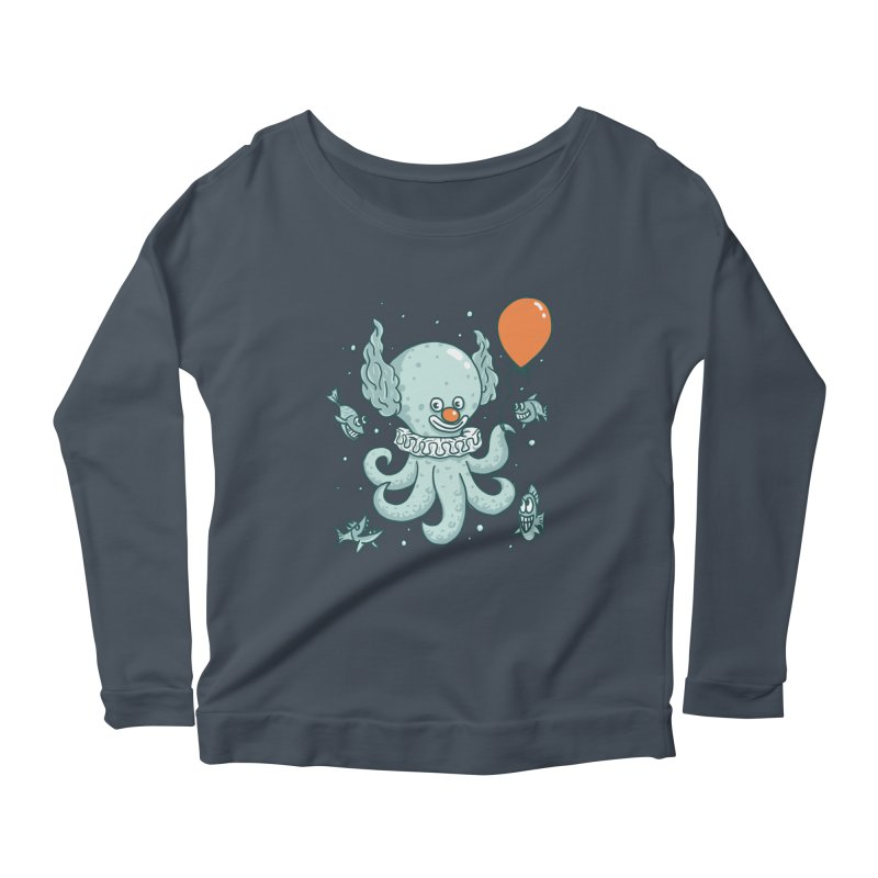 octopus clown Women's Scoop Neck Longsleeve T-Shirt by gotoup's Artist Shop