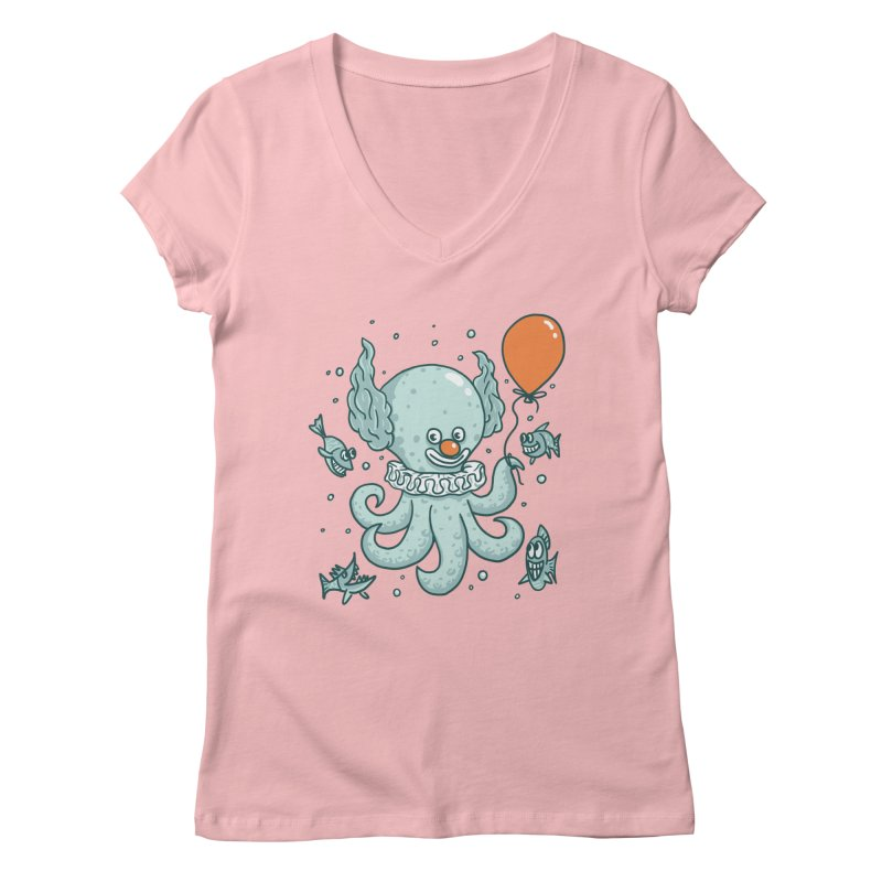 octopus clown Women's Regular V-Neck by gotoup's Artist Shop