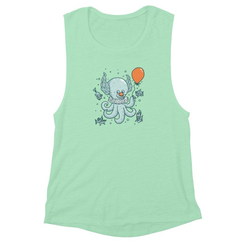 octopus clown Women's Muscle Tank by gotoup's Artist Shop