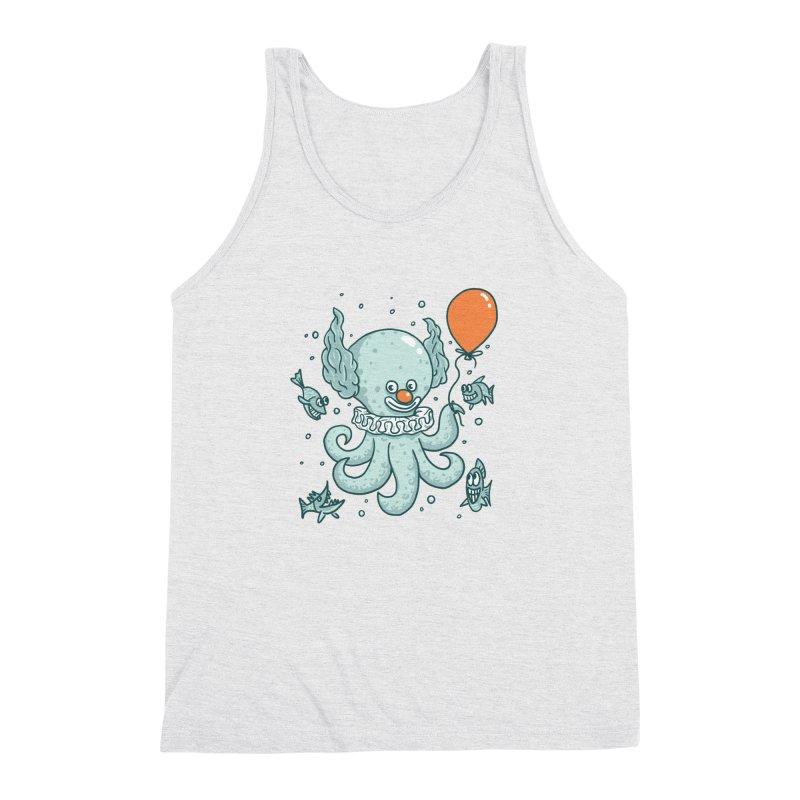 octopus clown Men's Triblend Tank by gotoup's Artist Shop