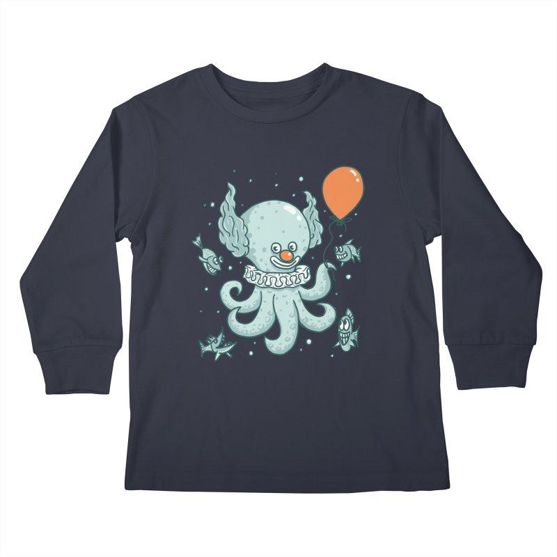 octopus clown Kids Longsleeve T-Shirt by gotoup's Artist Shop