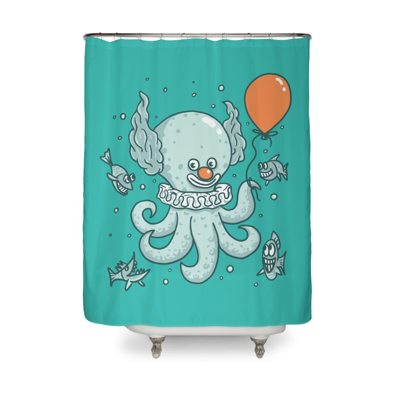 octopus clown Home Shower Curtain by gotoup's Artist Shop