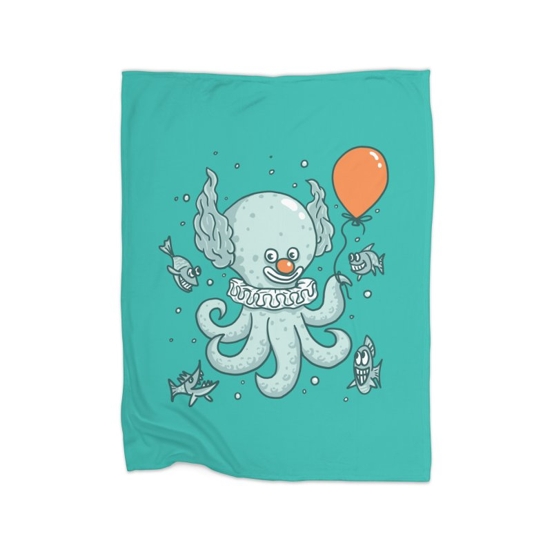 octopus clown Home Fleece Blanket Blanket by gotoup's Artist Shop