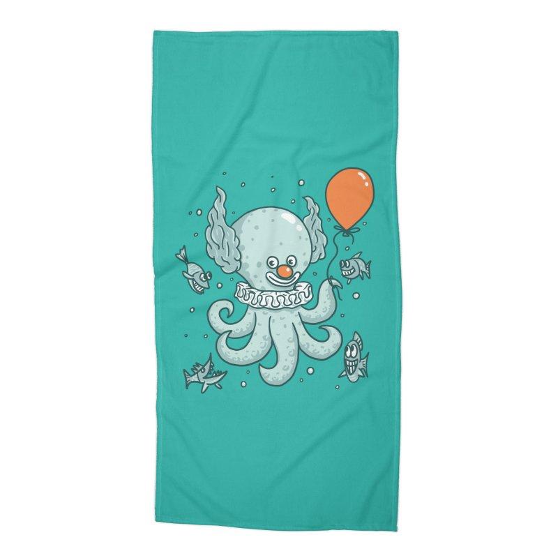 octopus clown Accessories Beach Towel by gotoup's Artist Shop