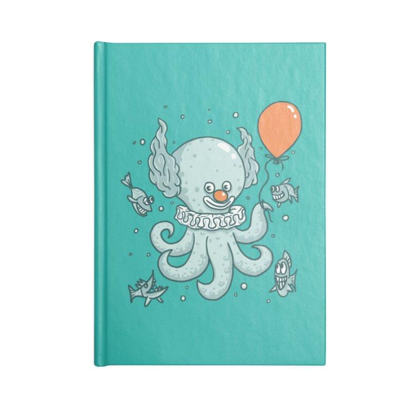 octopus clown Accessories Blank Journal Notebook by gotoup's Artist Shop