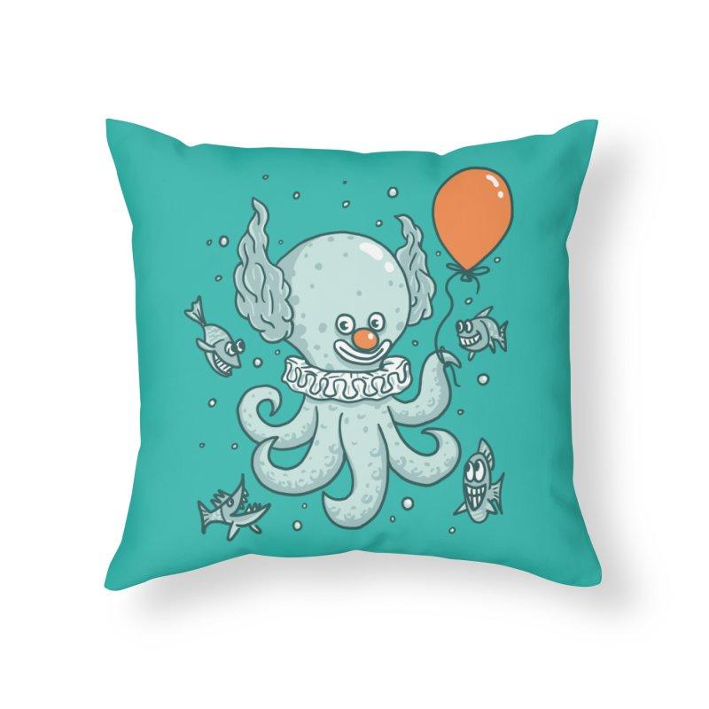 octopus clown Home Throw Pillow by gotoup's Artist Shop