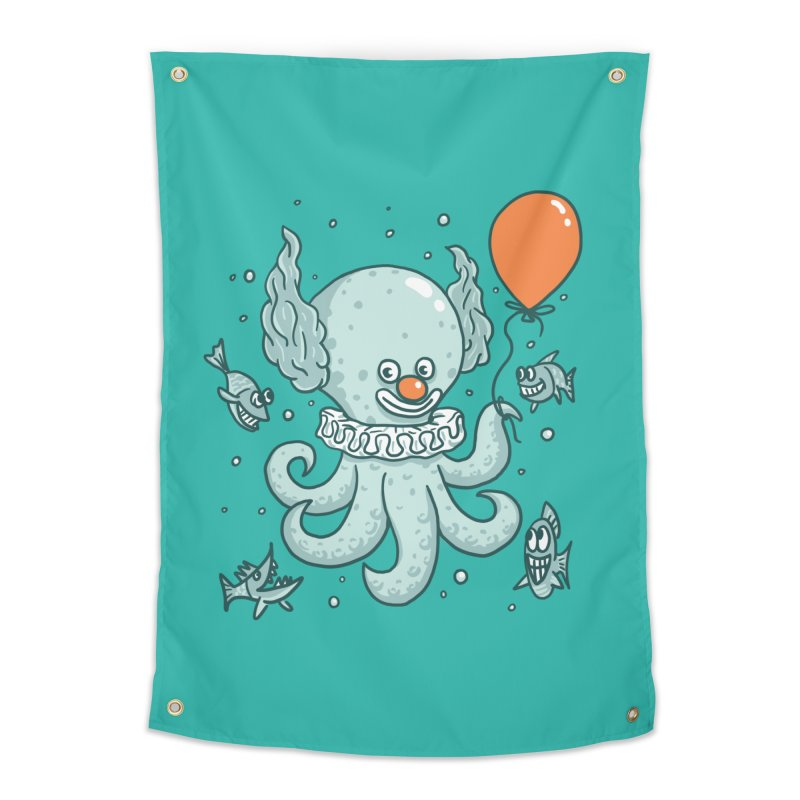 octopus clown Home Tapestry by gotoup's Artist Shop