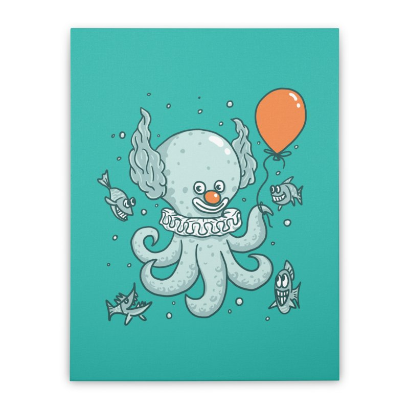 octopus clown Home Stretched Canvas by gotoup's Artist Shop
