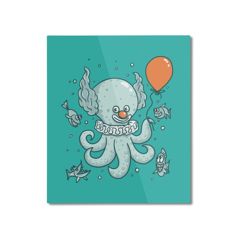 octopus clown Home Mounted Aluminum Print by gotoup's Artist Shop