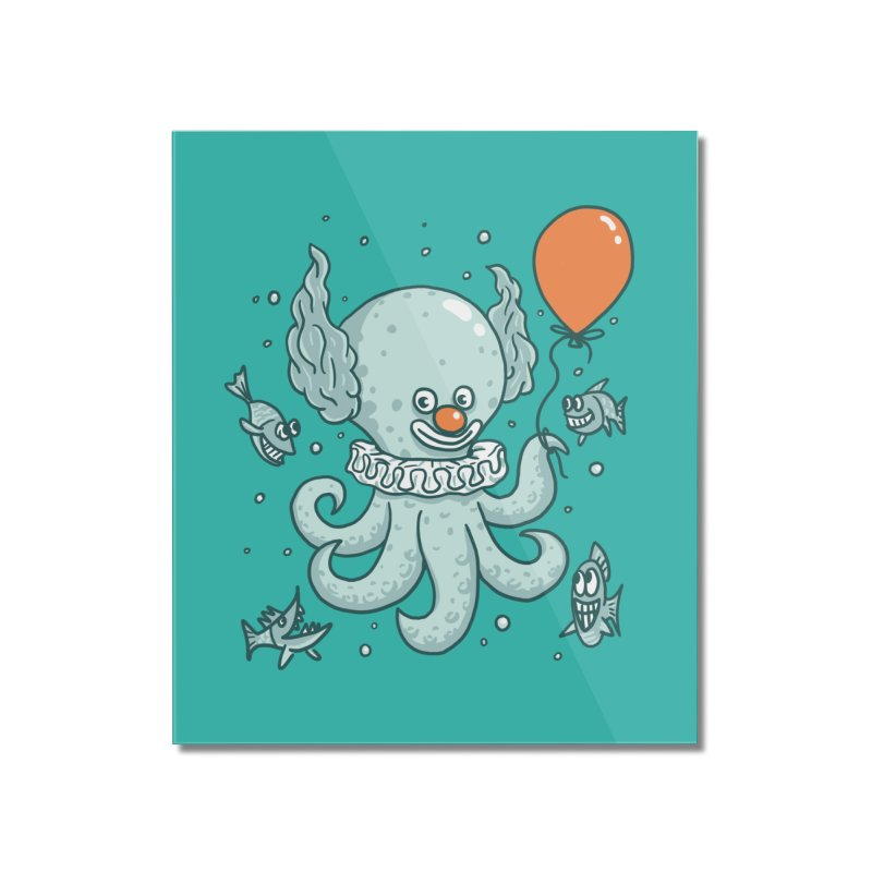 octopus clown Home Mounted Acrylic Print by gotoup's Artist Shop