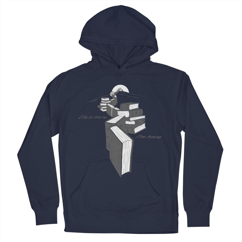 MY LIFE Men's French Terry Pullover Hoody by gotoup's Artist Shop
