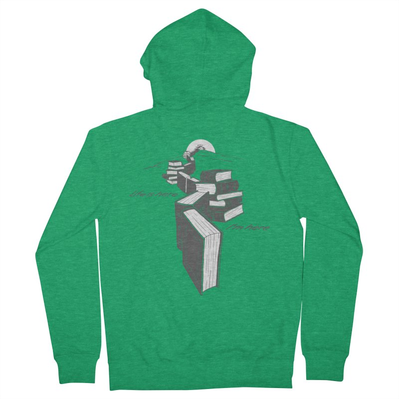 MY LIFE Men's French Terry Zip-Up Hoody by gotoup's Artist Shop