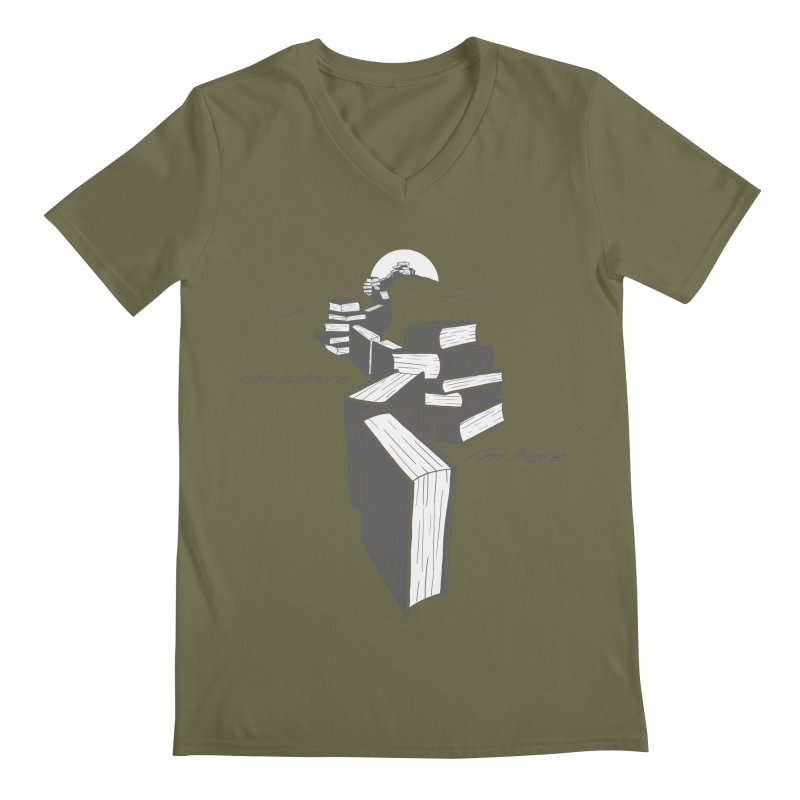 MY LIFE Men's Regular V-Neck by gotoup's Artist Shop
