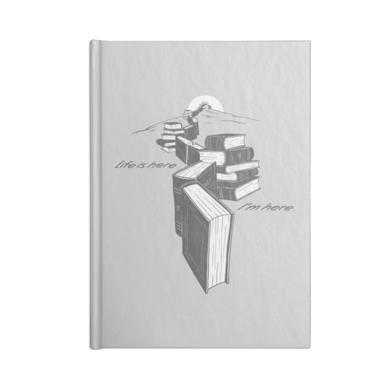 MY LIFE Accessories Blank Journal Notebook by gotoup's Artist Shop