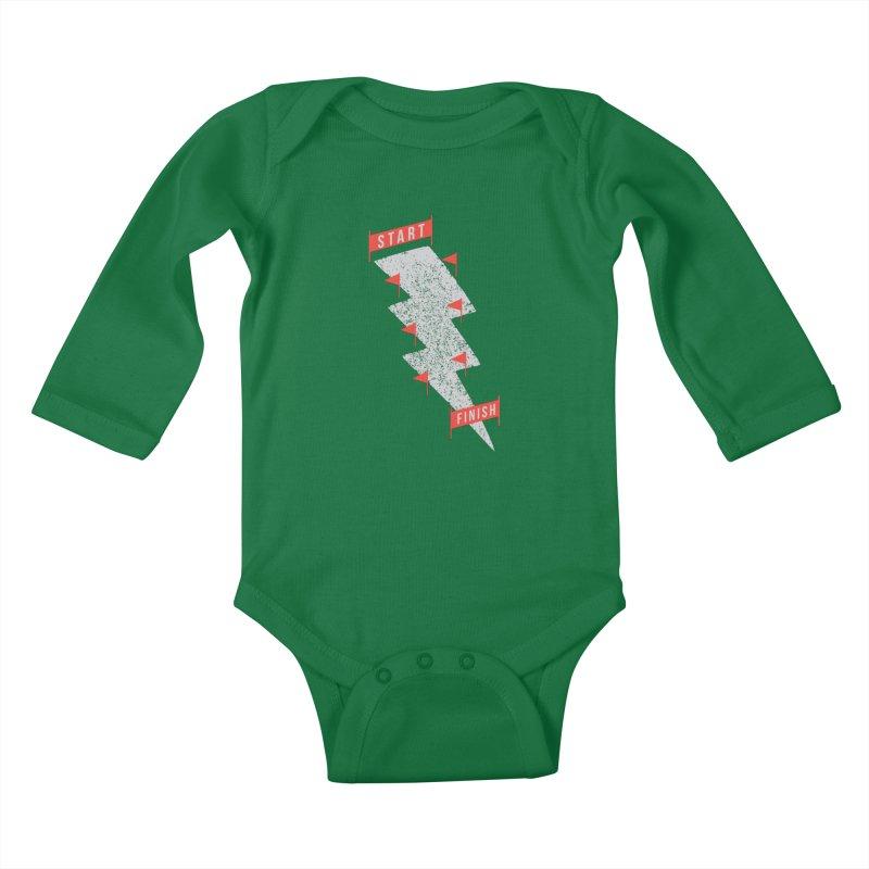 slalom Kids Baby Longsleeve Bodysuit by gotoup's Artist Shop