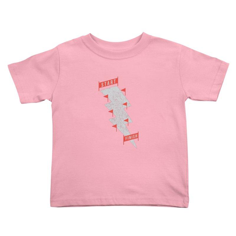 slalom Kids Toddler T-Shirt by gotoup's Artist Shop
