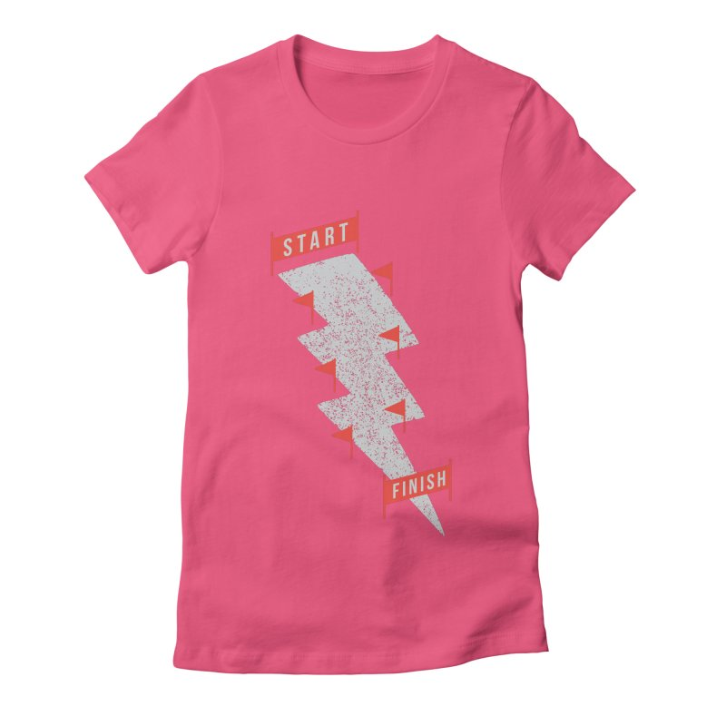 slalom Women's Fitted T-Shirt by gotoup's Artist Shop