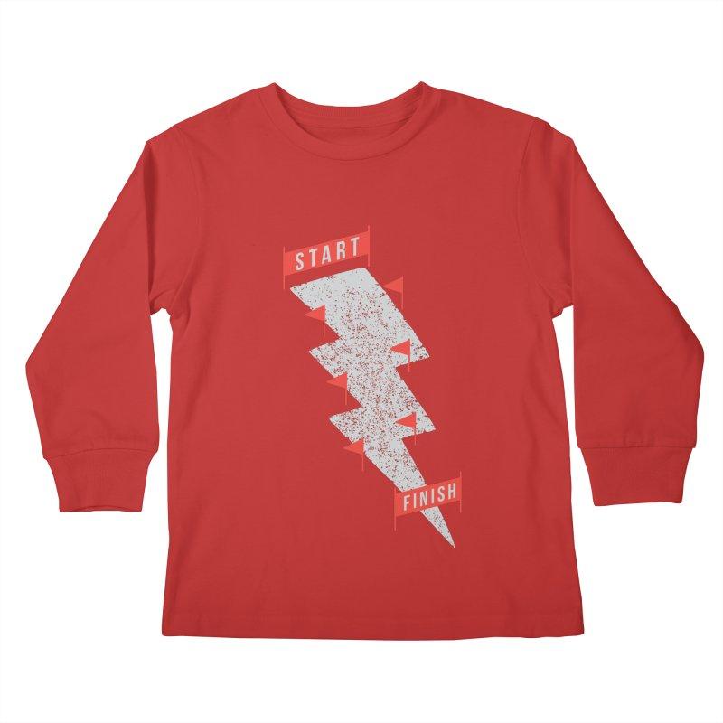 slalom Kids Longsleeve T-Shirt by gotoup's Artist Shop