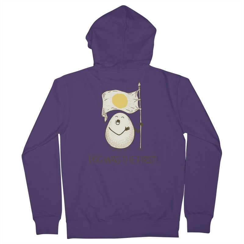 anthem of eggs  Women's Zip-Up Hoody by gotoup's Artist Shop